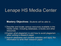 Lenape HS Media Center