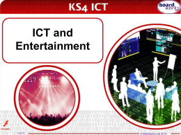 ICT and Entertainment