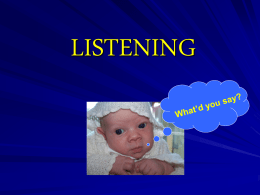 LISTENING - CCCTC Home