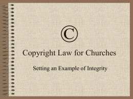 Copyright Law for Churches