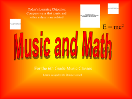 Music and Math - Robertson County