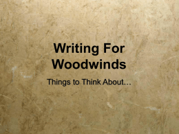 Writing For Woodwinds
