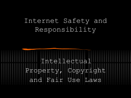 Intellectual Property, Copyright and Fair Use Laws