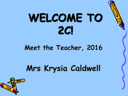 2C Meet the Teacher 2016