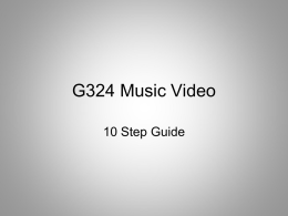 G324 Music Video - Media and Film Studies
