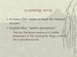 Scanning the Verse PowerPoint
