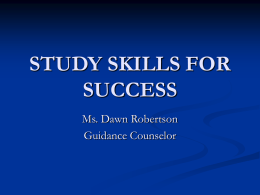 study skills for success - High School for Math, Science and