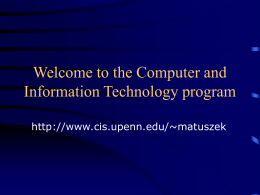 programming - the Department of Computer and Information Science