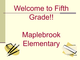 Maplebrook Information