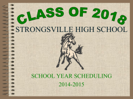 strongsville high school - Strongsville City Schools