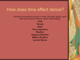 How does time effect dance?