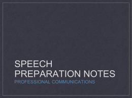 Informative Speech Notes PowerPoint