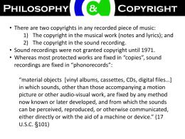 Copyright & The Music Industry