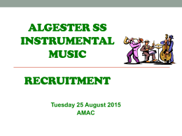 2016 Music Recruitment Evening