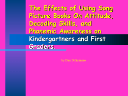 The Effects of Using Song Picture Books On Decoding Skills