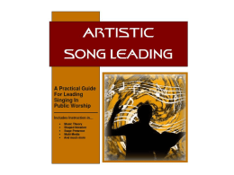 Artistic Song Leading (Lesson 3)