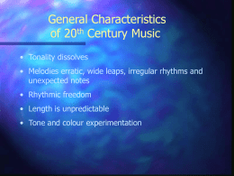 General Characteristics of Baroque Music