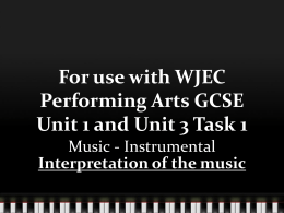 Interpretation of the Music - Teacher Presentation