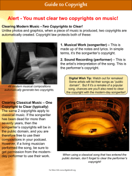 Clearing Classical Music – One Copyright to Clear