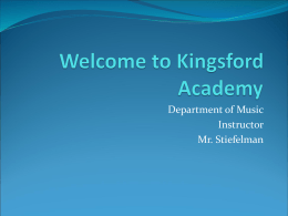 Welcome to Kingsford Academy