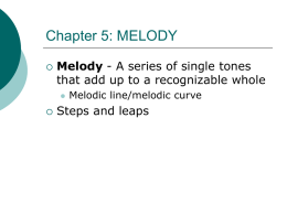 Chapter 5: MELODY