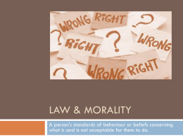 Law & Morality - HRSBSTAFF Home Page