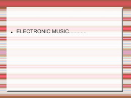 Electronic Music chance Music of John Cage