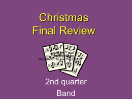 2nd Quarter Band Final - Warren County Public Schools