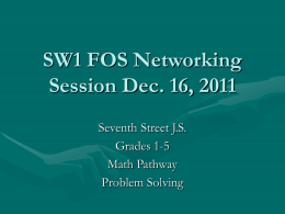 Seventh Street Problem Solving path