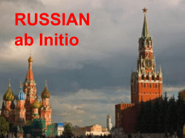 RUSSIAN ab Initio - IVC Modern Languages Weblog