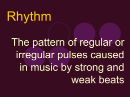The pattern of regular or irregular pulses caused in