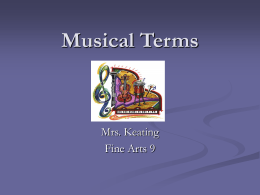 Musical Terms - Keating
