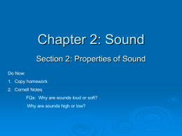 Chapter 2: Sound