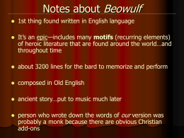 NotesaboutBeowulf