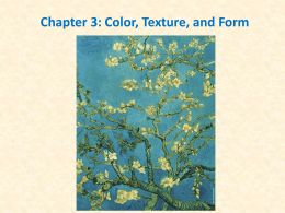 Chapter 3: Color, Texture, and Form Dynamics