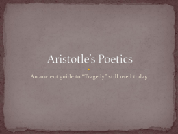 Aristotle`s Poetics - Fort Thomas Independent Schools