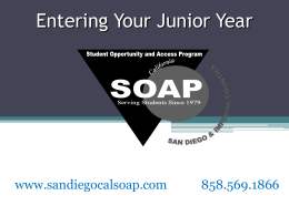 10th Grade Spring Presentation - San Diego Cal-SOAP