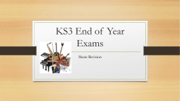 End of Year Exam