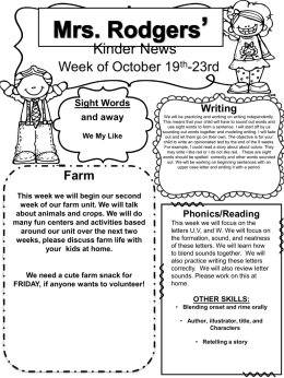 week 10 lesson plan - Clinton Public School District