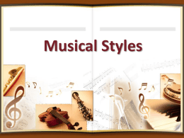 Musical Styles Lesson – music appreciation