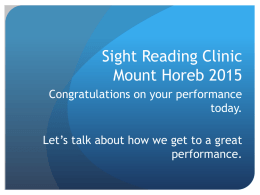 Sight Reading Clinic Mount Horeb 2015