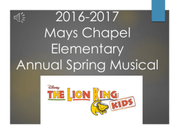 2013-2014 Vincent Farm Musical - Mays Chapel Elementary School