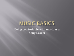 Lesson 1 – Beginning Music