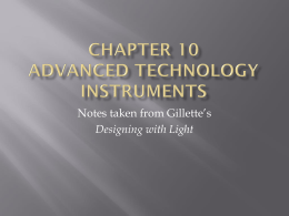 Chapter 10 Advanced Technology Instruments