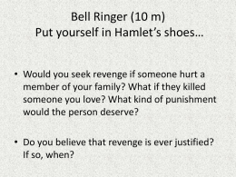 Bell Ringer Put yourself in Hamlet*s shoes*