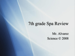 7th grade Spa Review
