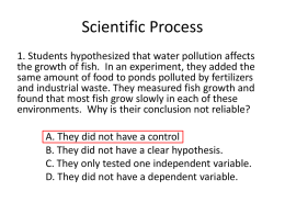 Scientific Process - THS Biology EOC Tutorials