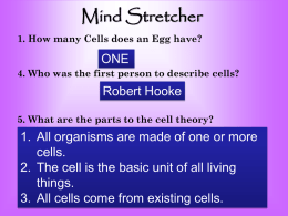 All Cells Have…….