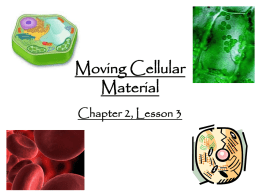 Moving Cellular Material - (www.ramsey.k12.nj.us).