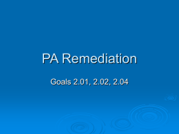 CFA Remediation